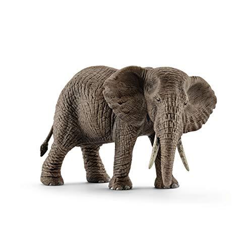 SCHLEICH- Figurina-Elefante Africano, Colore Come da Originale, Dipinto a Mano, 14761