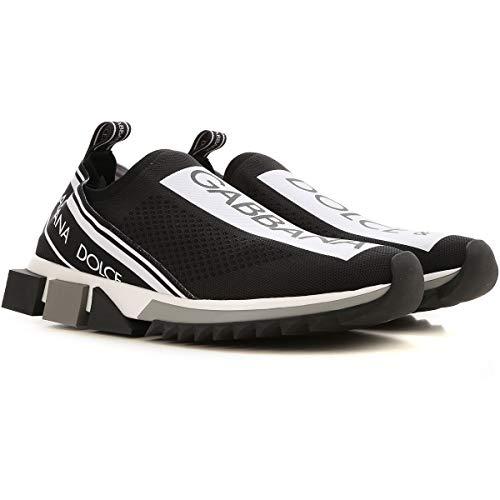 Moda Dolce E Gabbana Hombre CS1713AH67789690 Negro Poliéster Zapatillas Slip-on | Temporada Permanente