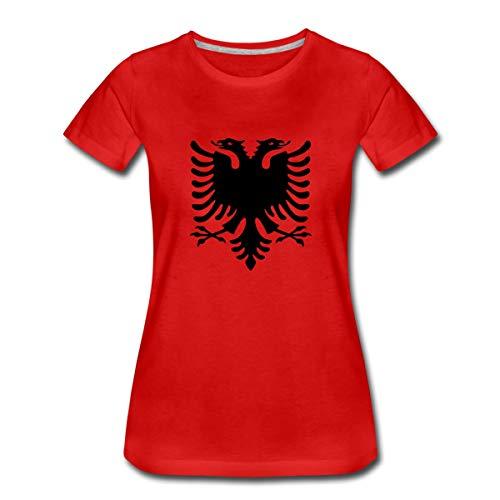 Albanien Flagge Adler Shqiperia Doppeladler Frauen Premium T-Shirt, S, Rot