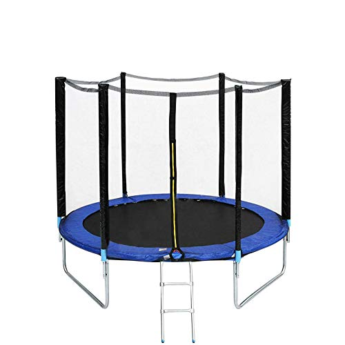 Trampolines for kids outdoor with net,Trampoline Fitness Foldable for Adults and Kids ,Trampoline 8ft with Safety Enclosure Netting Stable & Quiet Exercise Rebounder Trampoline for Indoor/Garden