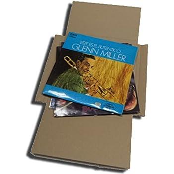 1797 CUIDATUMUSICA 25 Cajas DE Carton Cruz Embalaje Y Envio para Enviar DE 1 A 3 Discos DE Vinilo LP Los Discos Grandes - Ref