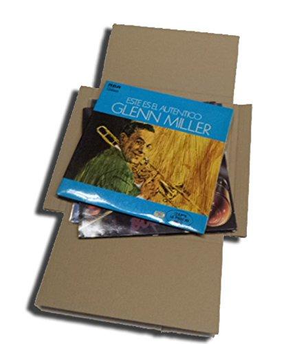 CUIDATUMUSICA 25 Cajas DE Carton Cruz Embalaje Y Envio para Enviar DE 1 A 3 Discos DE Vinilo LP (Los Discos Grandes) - Ref. 1797 -