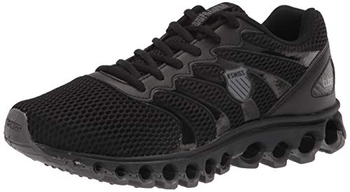 K-Swiss Men's Tubes Comfort 200 Training Shoe Cross Trainer, Black/Charcoal, 8.5 X-Wide