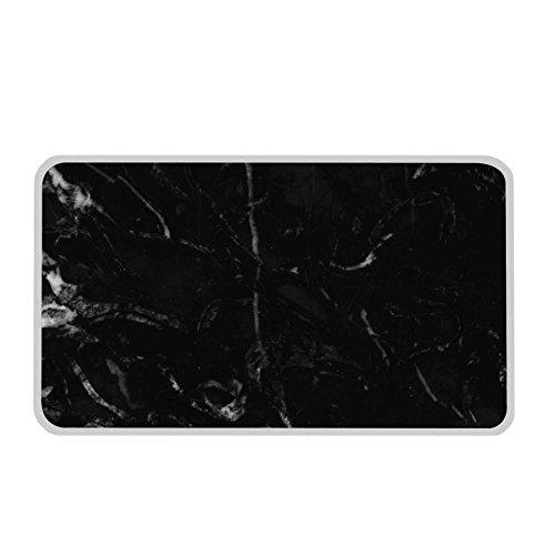 Zak! designs 1304-130 Osmos Planche de service, marbre Noir/Blanc
