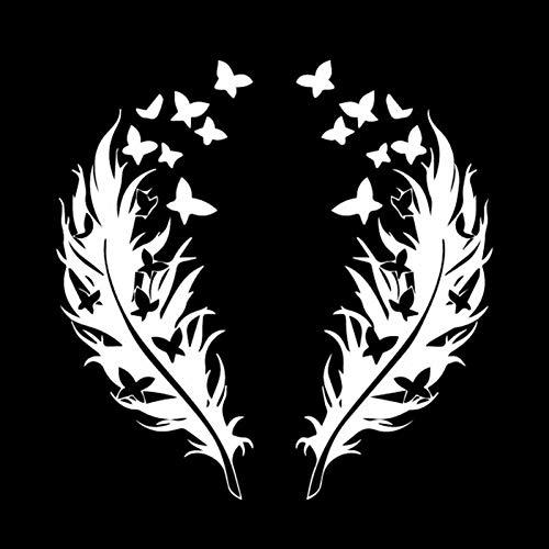 XCWQ Autosticker, 15,8 m x 15,9 cm, stickers voor autoveer, vlinders, design, romantische stickers voor auto, zwart, zilver Zilver.