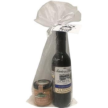 Regalo de vino Señorío de los Llanos Tempranillo con tarro miniatura de paté de salmón para invitados (Pack 24 ud): Amazon.es: Hogar
