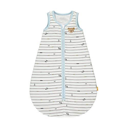 Steiff Baby-Jungen mit süßer Teddybärapplikation Schlafsack, Cloud Dancer, 090