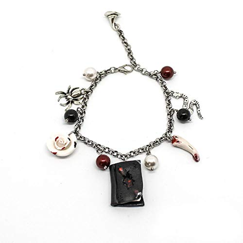 Bracciale acciaio Harry Potter con diario di Tom Riddle e charms