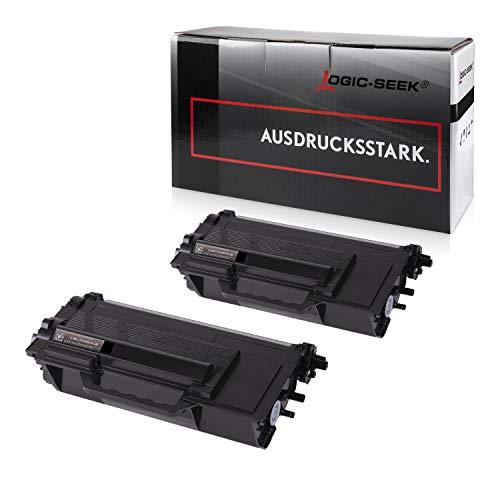 2 Logic-Seek Toner kompatibel für Brother TN-3480 für Brother HL-L5000D HL-L6300DW HL-L5100DNT HL-L5100DN HL-L5100DNTT DCP-L6600 MFC-L5700 - Schwarz je 8.000 Seiten