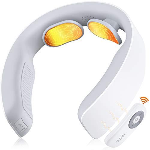 AGPTEK Masajeador de Cuello, Masajeador de Espalda Eléctrico Inteligente con Indicaciones de Voz, Masajeador Cervical de Pulso con Funcion de Calor para Aliviar el Dolor Cervical