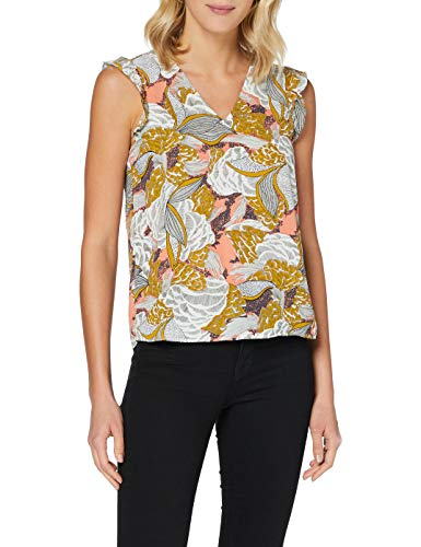 Only Onlbeartrice Life S/L V-Neck Top Wvn Camisa Cami para Mujer
