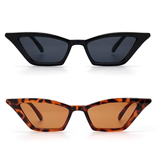 GQUEEN Gafas Vintage Clout Lentes de sol tipo ojo de gato Estilo a la moda y con protección UV lentes tipo Kurt Cobain,GQS8 ✅