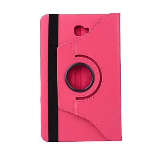 Capa para tablet Samsung Galaxy Tab S3 9,7 polegadas SM-T820/SM-T825 com rotação de 360 graus de couro PU ultrafina à prova de choque com ativação automática (rosa vermelho)