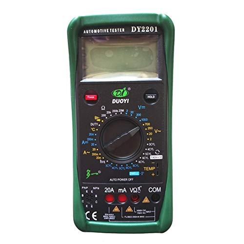 Gtest DY2201 Digital automotriz multímetro Tach ángulo de permanencia RPM medidor de medición de Temperatura