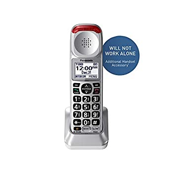Panasonic New DECT 6.0 Cordless Phone Handset Accessory Talking Caller ID Compatible with KX-TGM450S Series Cordless Phone Systems - KX-TGMA45S  Silver