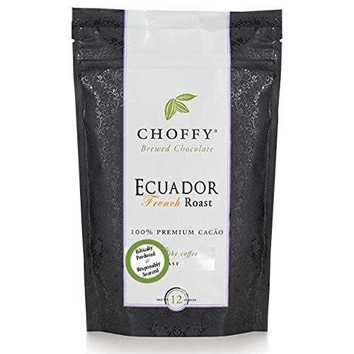 Choffy Brewed Chocolate Ecuador French Roast 12oz, coffee alternative, coffee substitute