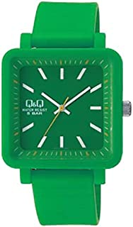 Q&Q Colorful Pop Watch In Green [Vq92J007Y], Analog Display, For Unisex