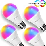Smart WiFi Light Bulb with Soft White Light, TECKIN 16 Million RGB Color Changing LED Bulb That…