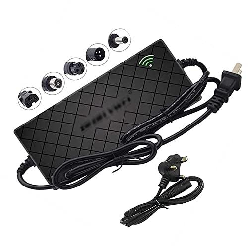 SKYWPOJU Cargador de batería de Litio para Bicicleta eléctrica, Scooter autoequilibrado, 29,4 V 42 V 54,6 V 2A Adaptador de Corriente de Carga rápida Cargador de Scooter eléctrico