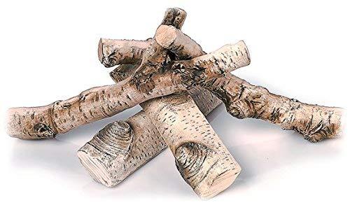 FYRECERAMICS Keramik Holz: Keramik-Dekoration Holzscheit für Bioethano und Gas Kamine 5 stk. (Deko Holzscheite)