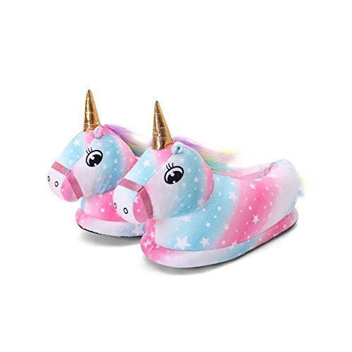 LICLIN-HS Zapatillas de Animales Antideslizantes para Mujer esponjosa esponjosa Espuma cómodos Cordones para el hogar de Felpa vellón bordeado Interior y Zapatillas al Aire Libre