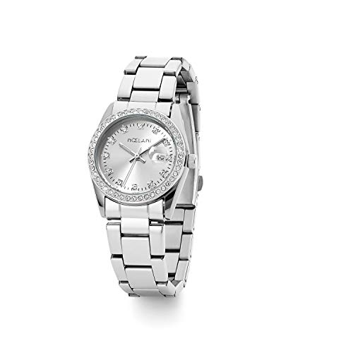 NOELANI Damen Analog Quarz Uhr mit Edelstahl Armband 2021160