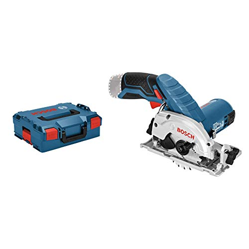 Bosch Professional GKS 12V-26 - Sierra circular a batería (12V, Disco 85 mm, sin batería, en L-BOXX)