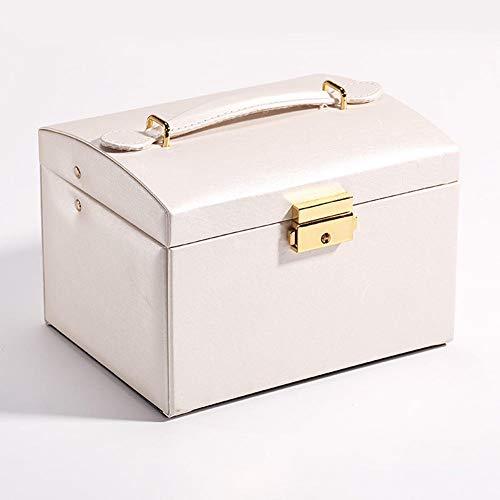 NFRADFM Caja de joyería, organizador de cuero de la PU del cajón de la joyería, pendiente, anillo, collar, caja de almacenamiento de joyería ataúd