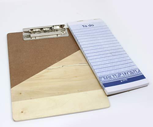 IVEI Bloc de notas de madera para tu escritorio, bloc de notas con 50 hojas incluidas, tamaño A5