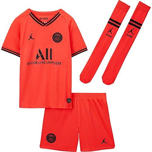 Nike 2019-2020 PSG Away Little Boys Mini Kit, French Ligue 1, Infantil, color rojo, tamaño MB 5-6yrs (110-116cm)