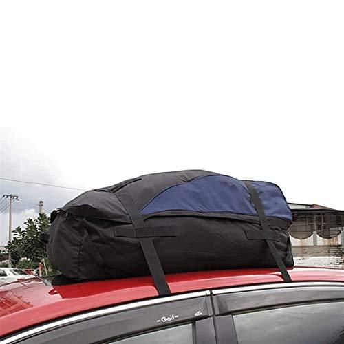 Estante del coche Soft Shell Techo Bolsa de transporte de carga, apta for todos los vehículos con o sin bastidor, for trabajo pesado con correas anchas y hebillas 600D 100 * 85 * 45 * 25 Atrás Frente