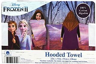 Disney Frozen II Elsa & Anna Hooded Towel Olaf, 100% Cotton - Brown