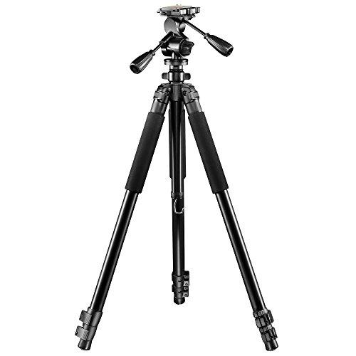 Walimex Pro FT-665T Pro Stativ (mit 3D-Neiger, Extrem Stabil, max. Belastbarkeit: Stativ 12kg. Neiger 6kg, 3 Beinsegmente, Stativbeindurchmesser 32, 28, 24mm, 3 Schaumstoffgriffe, Libelle und Kompaß, inkl. großer Tasche, 198 cm)