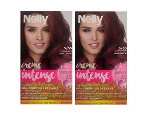 Nelly T/P Nelly 5/55 Caoba Rojo Duplo 2 Unidades 100 ml
