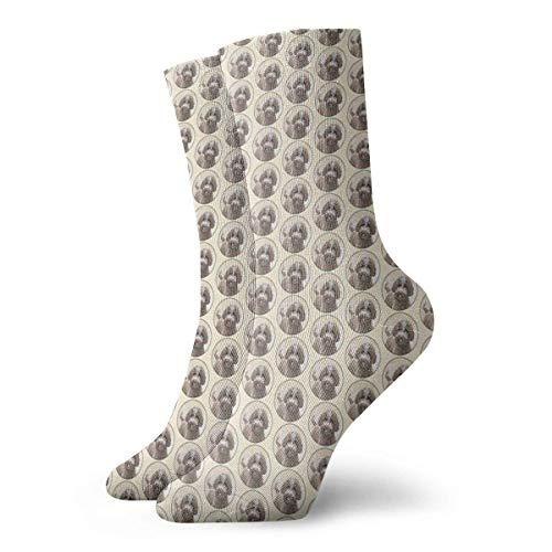 Becomfort Lagotto Romagnolo Painting - Cute Dog Art Socks Classic Leisure Sport Short Socks 30cm/11.8inch Adatto per uomo donna