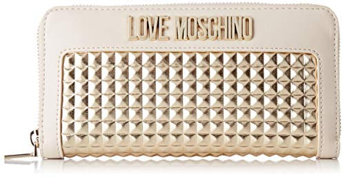 Love Moschino Damen Portafogli Calf Pu Geldbeutel, Gold (ORO), 2x10x19 Centimeters (W x H x L)