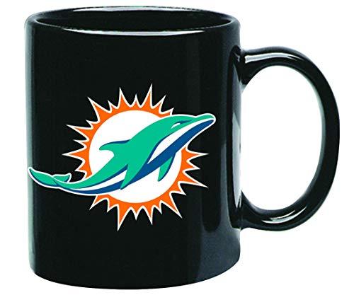Miami Dolphins NFL Offizielle Tasse, Becher, Kaffeetasse Black Glossy Groß 425 ml