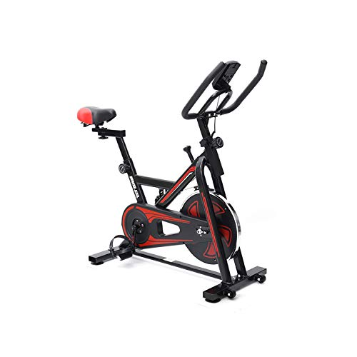 Bicicleta estática para casa o bicicleta estática, Bicicleta estática de Spinning Deportiva con resistencia por aire, LCD multifunción, equipamiento de fitness, Plegable, Unisex