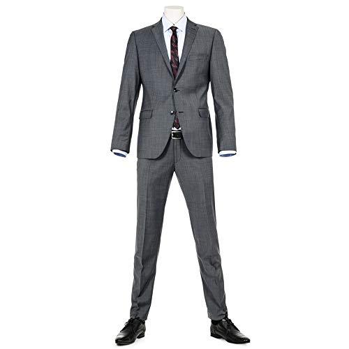 Benvenuto Purple - Slim Fit - Herren Baukasten Sakko für Jungen Trend-Anzug mit sehr schlankem Schnitt in Anthrazit, Adon (20776, Modell: 61350)