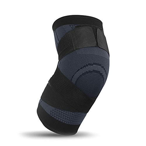 Wadonerful Knee Brace Support Compression Sleeves,Knee Heating Wrap Knee Support for Arthritis Heated Knee Brace Wrap (XXL, 1 PC Black)