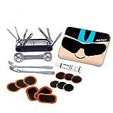 Kit de reparación de bicicletas: herramienta multifuncional 7 en 1 para bicicletas, que incluye pegamento libre y tiras de neumáticos, cabezal de llave B fácil de transportar, regalos prácticos