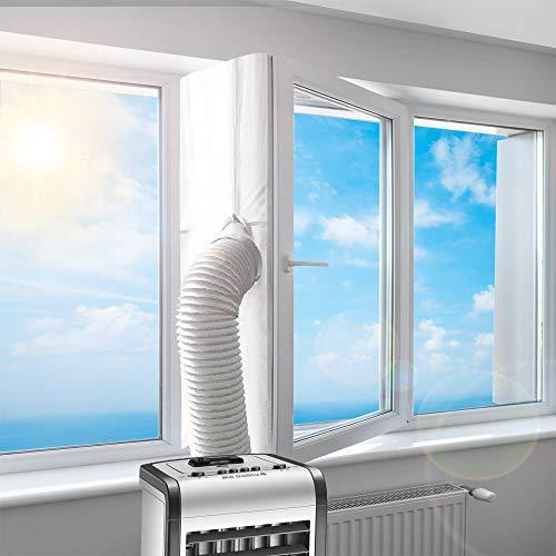 Fensterabdichtung für Mobile Klimageräte Dachfenster | Hot Air Stop zum Anbringen an Schwingfenster | Passend zu Jedem Klimagerät und Allen Schlauchgrößen Fensterabdichtung Klimaanlage, 400CM