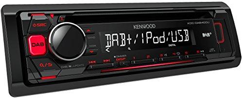 Kenwood KDCDAB400U Digitalautoradio mit CD/USB und Apple iPod-Steuerung schwarz