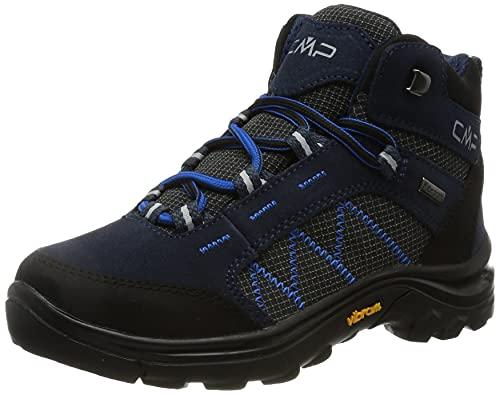 CMP Kids Shoe, Scarpe da Trekking Thiamat Mid 2.0 WP Unisex-Bambini, Black Blue, 36 EU