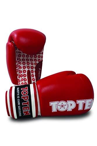 TopTen Fight Stars - Guanti da Boxe, Unisex, Unisex, 20661-4014, Rosso, 14 oz