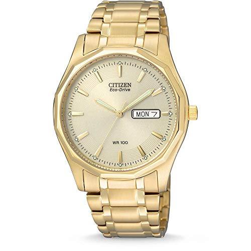 Citizen Herren Analog Quarz Uhr mit Edelstahl beschichted Armband BM8432-53PE