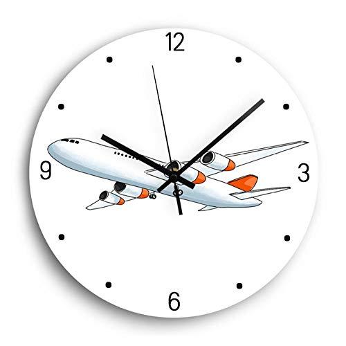 Wandklok Cartoon Vliegtuig Acryl Wandklok Modern Design Mute Mechanisme Decoratie Digitale Wandklok Woonkamer Woondecoratie