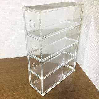 無印良品 アクリルメガネ・小物ケース 約幅6.7×奥行17.5×高さ25cm