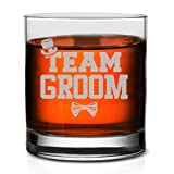 Veracco Team Groom Whiskey Glass FunnyGift For Someone Who Loves Drinking Bachelor Party Favors (Clear, Glass)