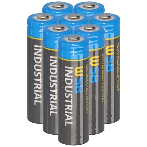 WSB 8X Spar-Pack SOLAR Mignon AA Akkus wiederaufladbare Batterien 3,2V 1,92Wh LiFePo4 Hochleistungs- Akku Batterie bestens geeignet für Solarlampen Solar Lichterkette Solarleuchte Leuchten